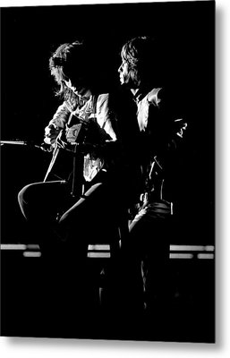 Rolling Stones 1970 Mick And Keith Live Metal Print by Chris Walter