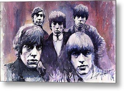 Rolling Stones  Metal Print by Yuriy  Shevchuk