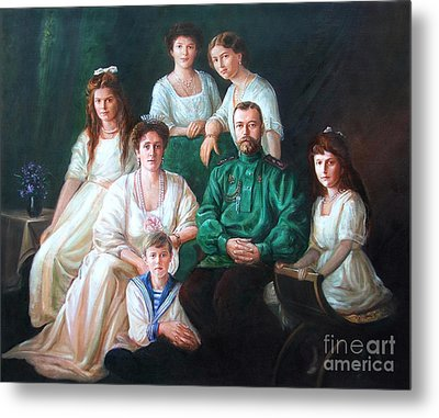 Romanov Family Portrait Metal Print by George Alexander
