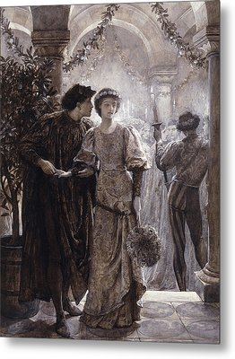 Romeo And Juliet Metal Print by Frank Dicksee