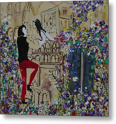 Romeo And Juliet. Metal Print by Sima Amid Wewetzer