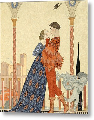 Romeo And Juliette Metal Print by Georges Barbier
