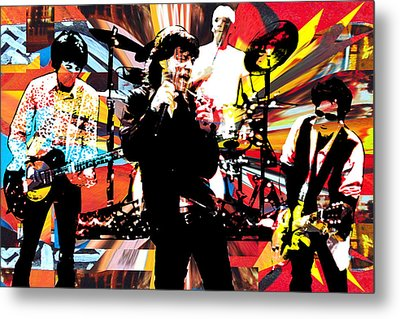Ron Mick Charlie Keith Metal Print by Kevin Newton