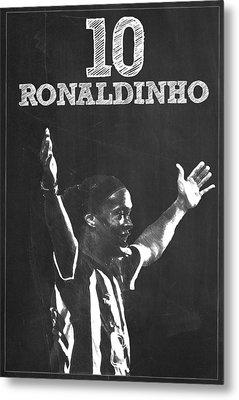 Ronaldinho Metal Print by Semih Yurdabak