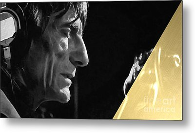 Ronnie Wood Collection Metal Print by Marvin Blaine