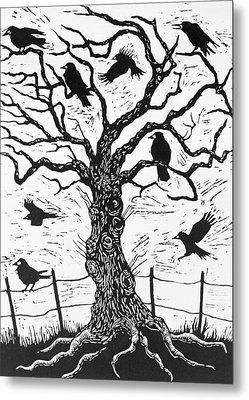 Rook Tree Metal Print by Nat Morley