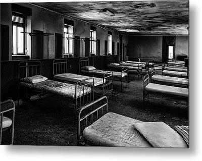 Room Of Nightmares - Abandoned School Building Metal Print by Dirk Ercken