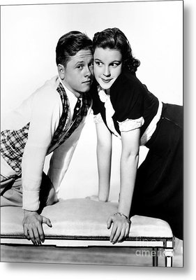 Rooney And Garland, 1938 Metal Print by Granger