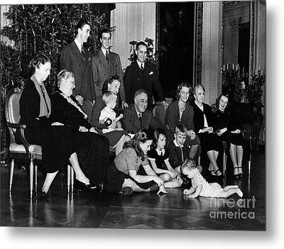 Roosevelt: Family, 1939 Metal Print by Granger
