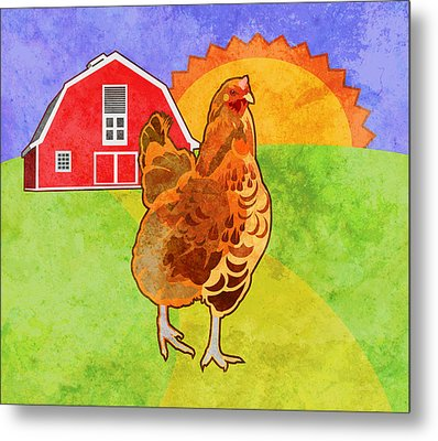 Rooster Metal Print by Mary Ogle