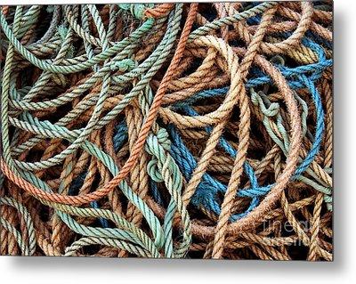 Rope Background Metal Print by Carlos Caetano