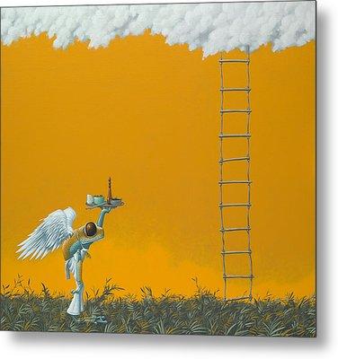Rope Ladder Metal Print by Jasper Oostland