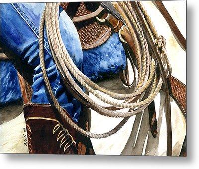 Rope Metal Print by Nadi Spencer