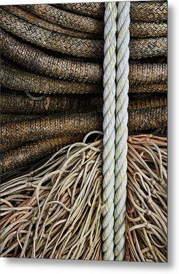 Ropes And Fishing Nets Metal Print by Carol Leigh