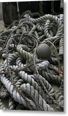Ropes And Lines Metal Print by Timothy Johnson