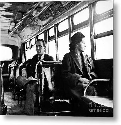 Rosa Parks (1913-2005) Metal Print by Granger