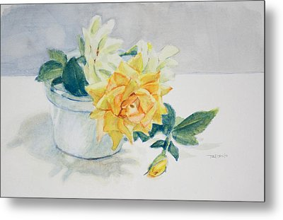 Rose Still Life Metal Print by Christopher Reid