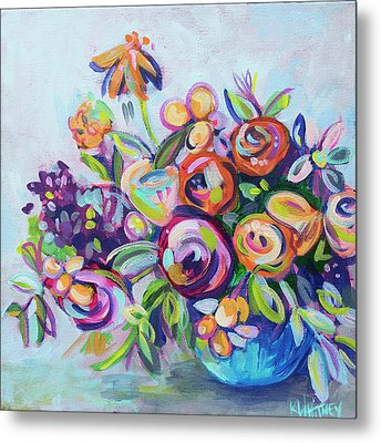 Roses And Kumquats Metal Print by Kristin Whitney
