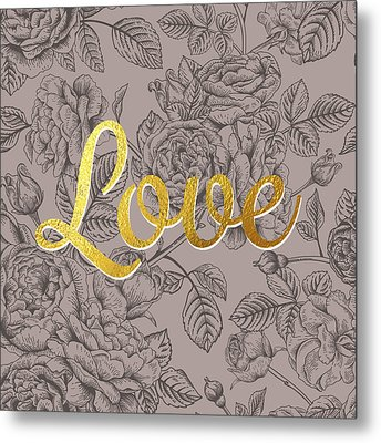 Roses For Love Metal Print by BONB Creative