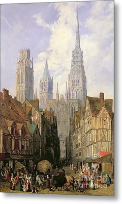 Rouen Cathedral Metal Print by Lewis John Wood