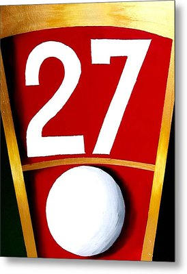 Roulette 27 Red  Metal Print by Teo Alfonso