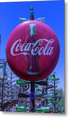 Round Coca Cola Sign Metal Print by Garry Gay