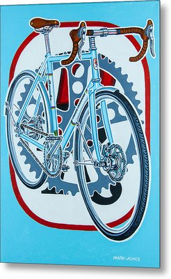 Rourke Bicycle Metal Print by Mark Howard Jones