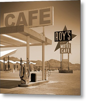 Route 66 - Roy's Motel  Metal Print by Mike McGlothlen