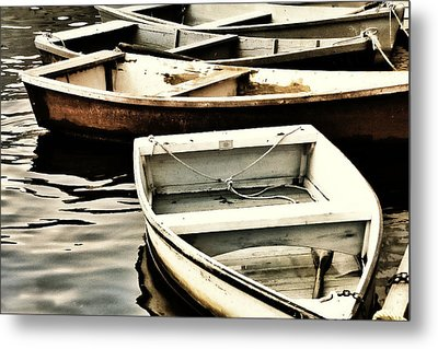 Rowboats In Maine Metal Print by Tony Grider