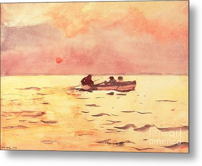 Rowing Home Metal Print by Winslow Homer