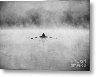 Rowing On The Chattahoochee Metal Print by Darren Fisher