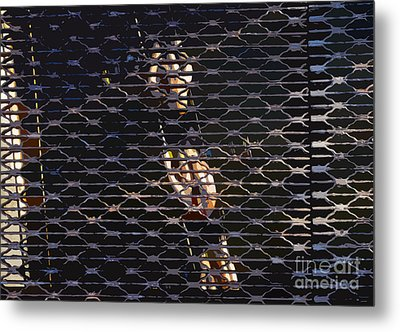 Rowing Through The Grate Metal Print by David Lee Thompson