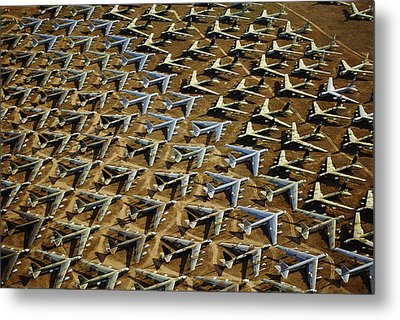Rows Of B-52s Tucson Az Metal Print by Panoramic Images