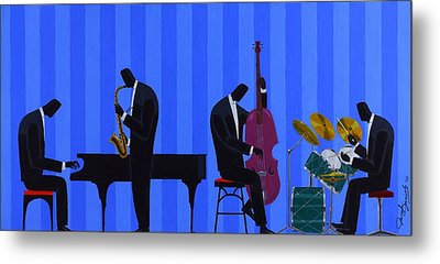 Royal Blues Quartet Metal Print by Darryl Daniels