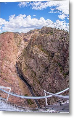 Royal Gorge From The Bridge Metal Print by Jim Hughes