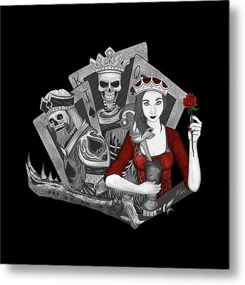 Metal Print featuring the digital art Royalty Love by Raphael Lopez