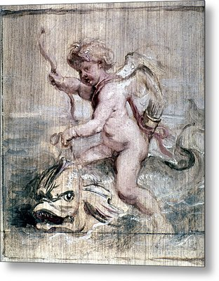 Rubens: Cupid On Dolphin Metal Print by Granger