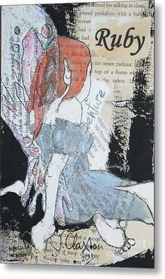 Ruby Fairy Metal Print by Joanne Claxton