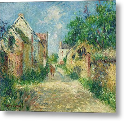 Rue A Incarville Metal Print by Gustave