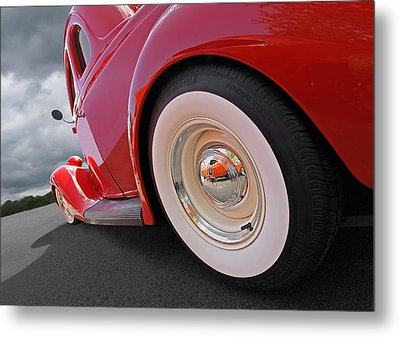 Rumblefest Red - Ford Coupe Metal Print by Gill Billington