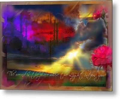 Rumi Rumination-1 Metal Print by Seema Sayyidah