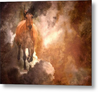 Run With Thunder Metal Print by Ron  McGinnis