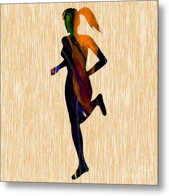 Runner Metal Print by Marvin Blaine