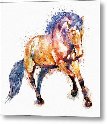 Running Horse Metal Print by Marian Voicu