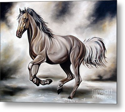 Running Metal Print by Ilse Kleyn
