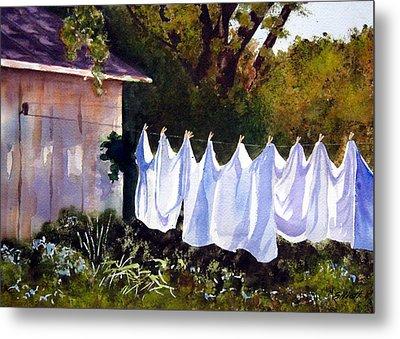 Rural Laundromat Metal Print by Marsha Elliott
