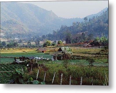 Rural Scene Near Chiang Mai, Thailand Metal Print by Bilderbuch