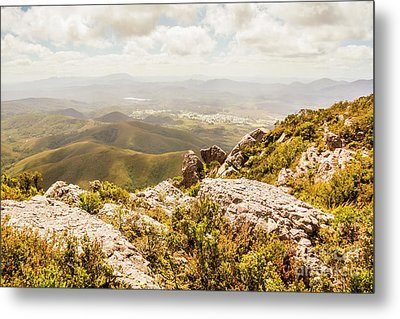 Rural Town Valley Metal Print by Jorgo Photography - Wall Art Gallery