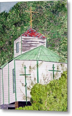 Russian Orthodox In Hoonah Metal Print by Larry Wright