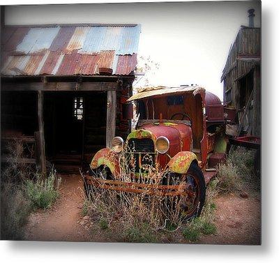 Rusted Classic Metal Print by Perry Webster